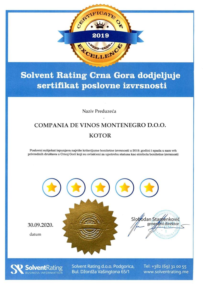 solvent-rating-sertifikat-compania-de-vinos-montenegro